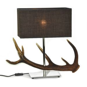 Nerezová stolní lampa s jelením parohem ARTURE výška 60 cm 1x E27 1596251