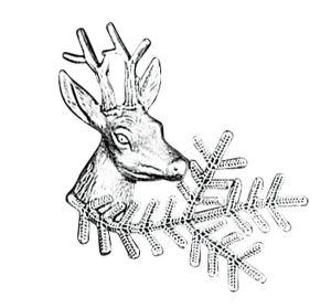 Odznak ARTURE srnec s úlomkem 2608