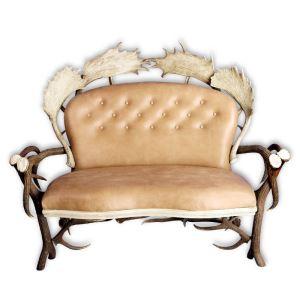 Kožená sedačka z paroží ARTURE Komfort 112205 16 Sand