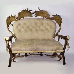 Kožená sedačka z paroží ARTURE Komfort 112205 1 Light Stone