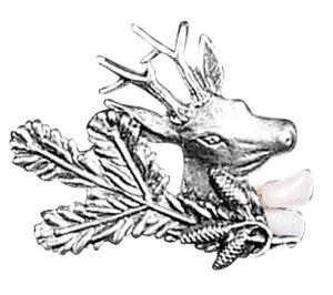 Odznak ARTURE Srnec se smrkovou větvičkou a řezáky 2667