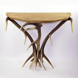 Konzolový stolek ARTURE starodřevo oblouk 117703 D12