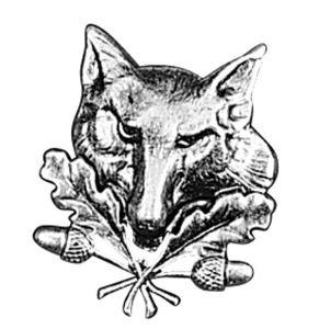 Odznak ARTURE hlava lišky s dubovými listy 2620