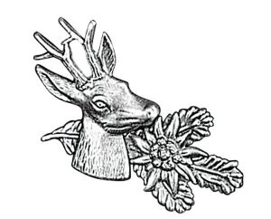 Odznak ARTURE srnec s protěží a úlomkem 2607