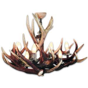 Lustr z jeleního paroží ARTURE 9x objímka E14 153901