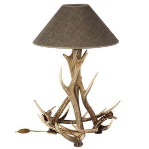 Parohová lampa stolní ARTURE z paroží jelena siky 159602