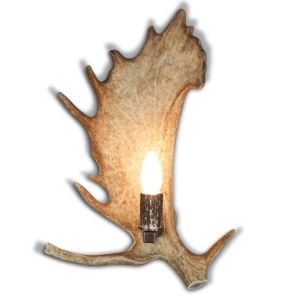 Nástěnná lampa ARTURE 1537213 z daňčího paroží s parohovou objímkou 1537213