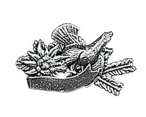 Odznak ARTURE tetřev protěž s protěží, úlomkem a stuhou 2614