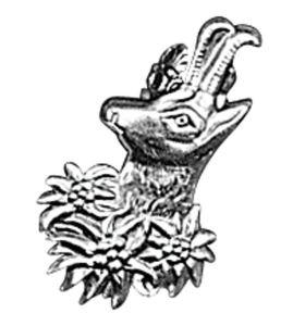 Odznak ARTURE touleček s hlavou kamzíka 2645