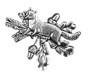 Odznak ARTURE liška celá s větvičkami 2621