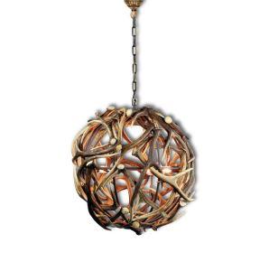 Elegantní luxusní lustr z jeleního paroží ARTURE ve tvaru koule o prům. 70 cm 1577160