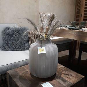 Váza XO světle hnědá, výška 28 cm