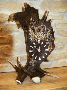 Stolní hodiny ARTURE 1722V 33 velké - vertikál - motiv srnec