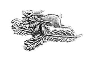 Odznak ARTURE zajíc s úlomkem a šiškami 2634