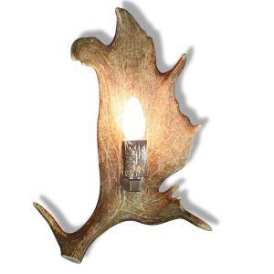 Nástěnná lampa ARTURE z paroží se staromosaznými komponenty 1537214