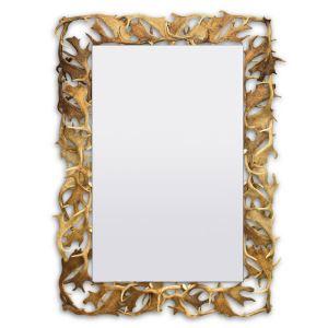 Zrcadlo ARTURE 118818 s rámem zdobeným daňčím parožím  200x140 cm