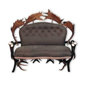 Kožená sedačka z paroží ARTURE Komfort 112205 5 Chocolate