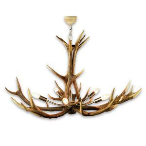 Lustr z jeleního paroží ARTURE 15780301 s 5ti nerezovými objímkami 15780301