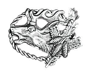 Odznak ARTURE hlava jelena s šiškami 2606