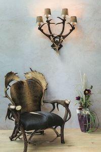 Křeslo z paroží ARTURE Komfort - 19 - Dark Chestnut