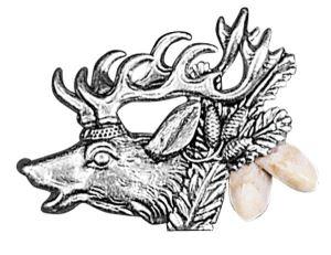 Odznak ARTURE s jelenem a světlými grandlemi 265602