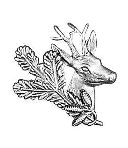 Odznak ARTURE srnec s úlomkem a šiškami 2609