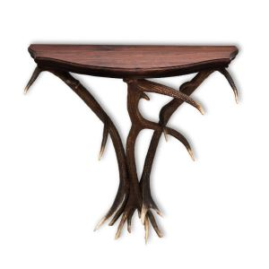 Konzolový stolek z paroží ARTURE 1177031 s ořechovou deskou 88 x 40 x 85 cm