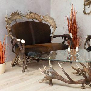 Kožená sedačka z paroží ARTURE Komfort 112205 18 Chestnut