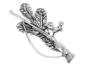 Odznak ARTURE puška se zajíčkem a úlomkem 2627