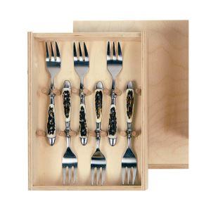 Dezertní vidličky se střenkami z paroží ARTURE 173401