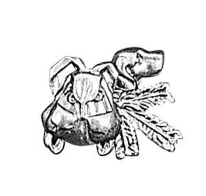 Odznak ARTURE pes s ruksakem 2636