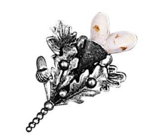 Odznak ARTURE špendlík touleček s bílými grandlemi 267301